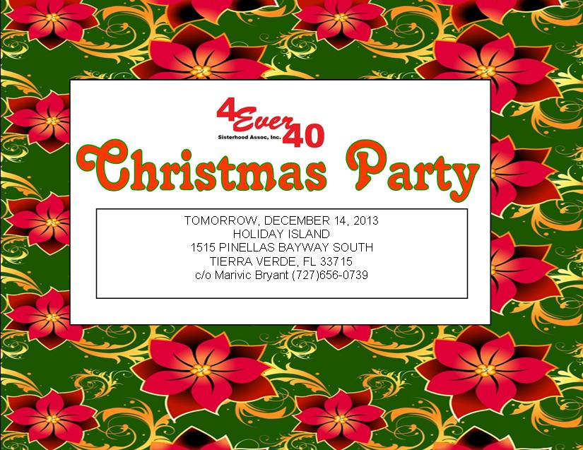 Invitation xmas party121313