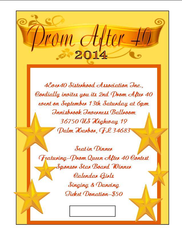 Prom After 40 -2014 September 13, 2015 Innisbrook- Inverness Ballroom, Palm Harbor